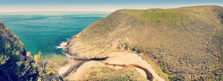 Photo for Deep Creek Conservation Park on the Fleurieu Peninsula in South Australia in panoramic format with retro style filter effect - Royalty Free Image