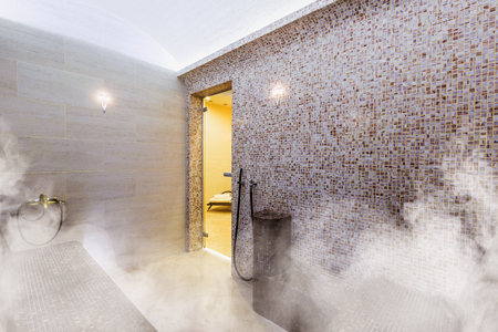 Foto de Interior of Turkish sauna, classic Turkish hammam - Imagen libre de derechos