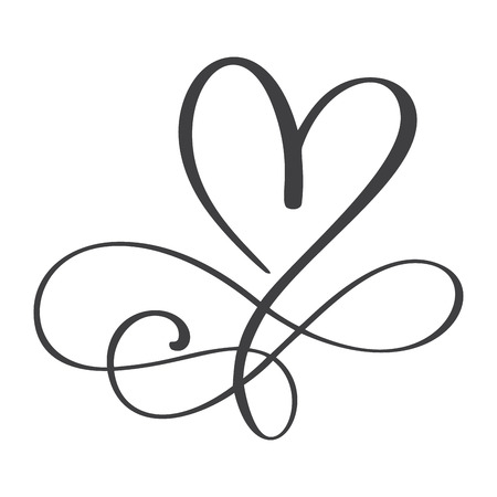 Illustration pour Heart love sign forever. Infinity Romantic symbol linked, join, passion and wedding. Template for t shirt, card, poster. Design flat element of valentine day. Vector illustration. - image libre de droit