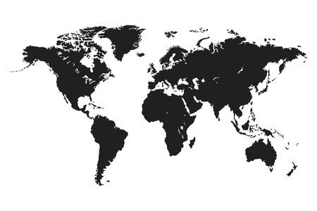 Illustration pour World map vector isolated. World political map. Flat earth vector illustration - image libre de droit