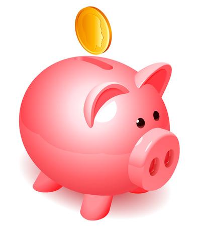 Illustration pour Piggy bank. - image libre de droit
