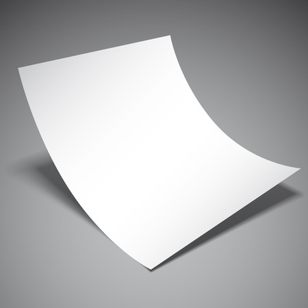 Illustration for Empty white paper sheet on grey background - Royalty Free Image