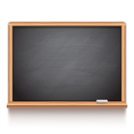 Illustration pour Black school chalk board on white background - image libre de droit