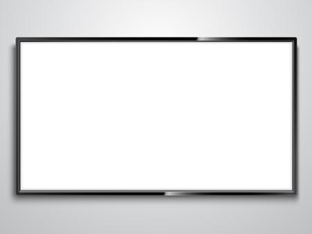 Illustration pour White Screen TV illustration on white background.. - image libre de droit