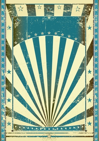 Photo for Retro blue background for your with a large frame for your message - Royalty Free Image