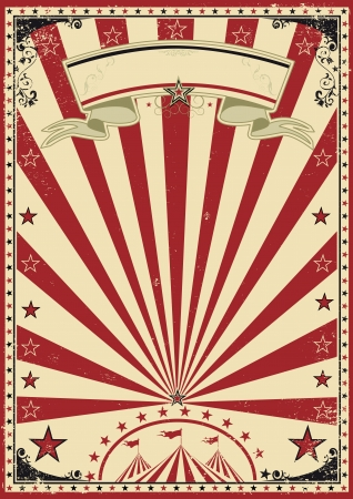 Photo for Circus red vintage - Royalty Free Image