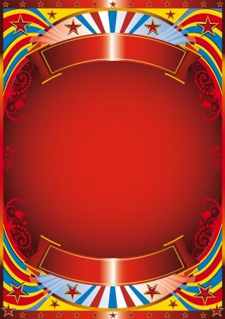 Illustration pour Circus background with a flourish frame - image libre de droit
