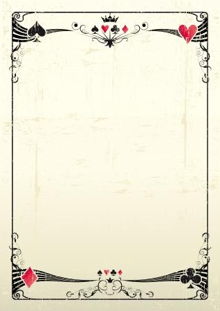 Ilustración de A grunge card frame for a poster  - Imagen libre de derechos