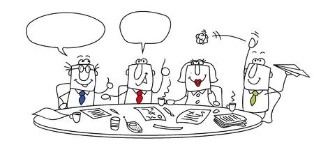 Illustration pour Group of managers around a table - image libre de droit