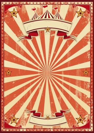 Photo pour A red vintage circus background for a poster - image libre de droit