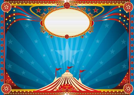 Illustration pour An horizontal circus background for your show  - image libre de droit
