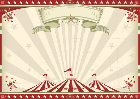 Illustration pour a circus vintage poster for your advertising  Perfect size for a screen  - image libre de droit