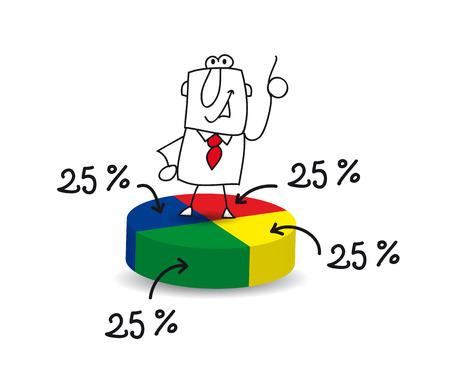 Illustration pour Joe, the businessman, is a statistician - image libre de droit