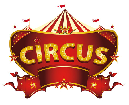 Illustration pour A circus sign isolated on white background for your entertainment - image libre de droit