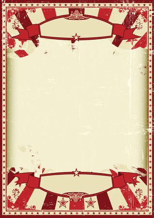 Illustration pour A vintage and retro grunge background with a large empty frame for a poster - image libre de droit