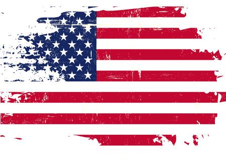 Illustration pour An american flag with a grunge texture - image libre de droit