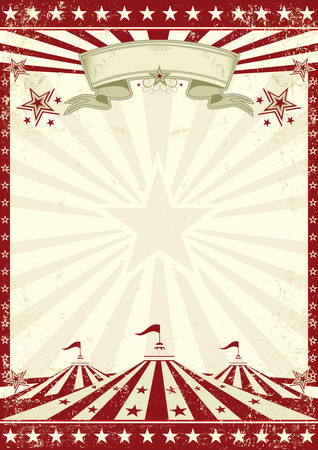 Illustration pour A vintage circus background with sunbeams for your entertainment - image libre de droit