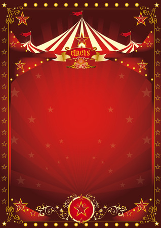 Illustration pour A circus background with a large copy space and a big top for your message. - image libre de droit