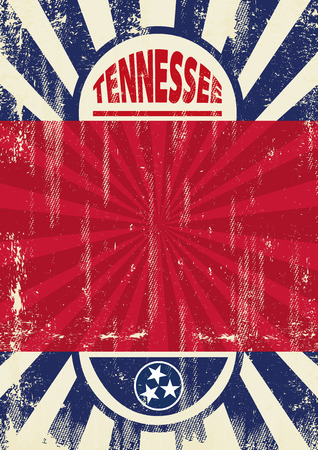 Illustration pour A vintage Tenneessee poster with sunbeams and a a texture for your advertising - image libre de droit