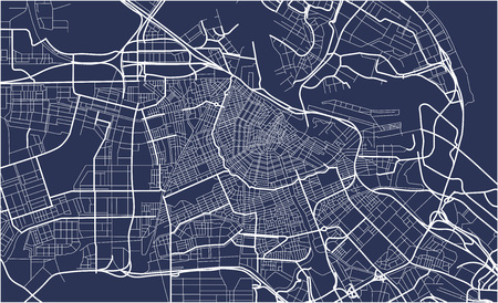 Illustration for City Map of Amsterdam, Netherlands - Royalty Free Image
