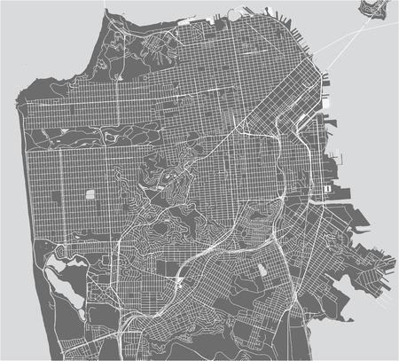 Illustration pour vector map of the city of San Francisco, USA - image libre de droit