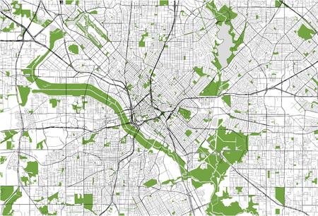 Illustration pour map of the city of Dallas, Texas, USA - image libre de droit