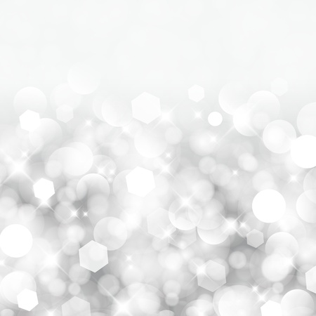 Ilustración de Glittery lights silver abstract Christmas background  - Imagen libre de derechos