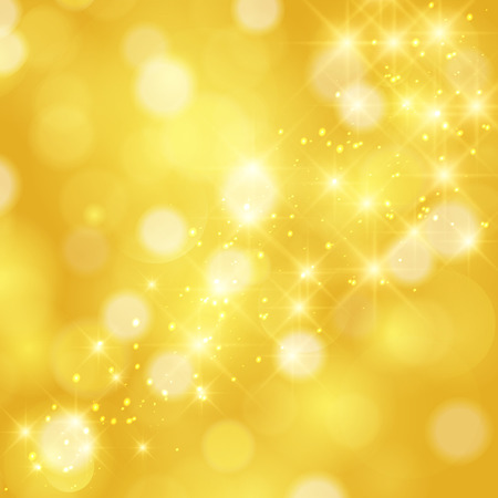 Illustration pour Glittering stars on golden glittering Christmas background - image libre de droit