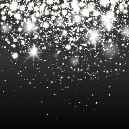 Illustration pour Silver sparkle glitter background. Sparkling flow background - image libre de droit