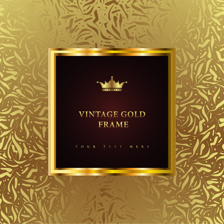 Illustration pour Luxury vintage background. Perfect as invitation or announcement. - image libre de droit