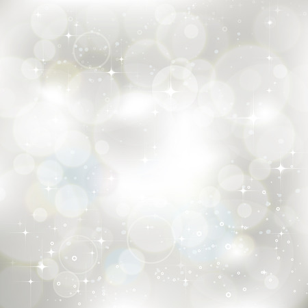 Illustration for Glittery silver abstract Christmas background - Royalty Free Image