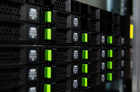 Foto de Hard disk in server slot. - Imagen libre de derechos