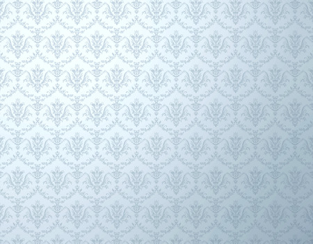 Photo for Silver wallpaper with soft floral pattern - Royalty Free Image