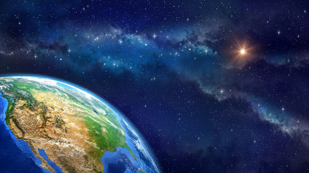 Photo pour Face of the Earth. Very high definition picture of planet earth in outer space. Elements of this image furnished by NASA - image libre de droit