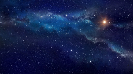 Photo for Deep space. Very high definition star field background - Royalty Free Image