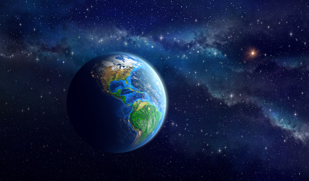 Photo for Very high definition picture of the Earth in outer space. View of American continent. Elements of this image furnished by NASA - Royalty Free Image