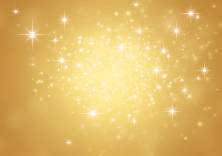 Photo for Shiny gold background in starlight - Royalty Free Image