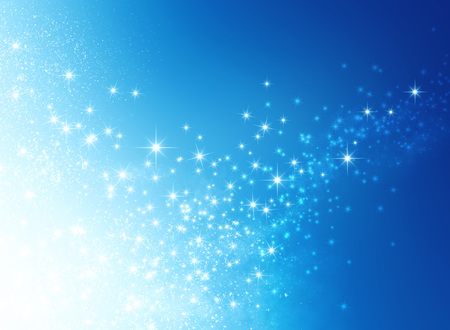 Photo for Shiny blue background with starlight explosion - Royalty Free Image