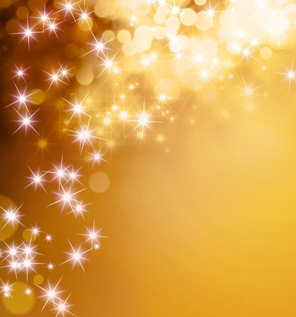 Photo for Shiny gold background with star lights raining down - Royalty Free Image