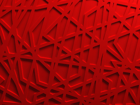 Photo for Red chaos mesh background rendered - Royalty Free Image