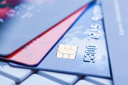 Photo pour macro shot with credit cards. - image libre de droit