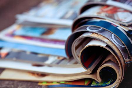 Photo pour Stack of magazines - image libre de droit