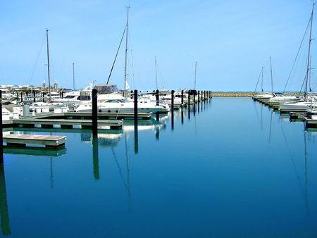 Belmont Harbor in Chicago, Illinois