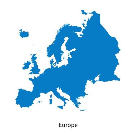 Illustration pour Detailed map of Europe - image libre de droit