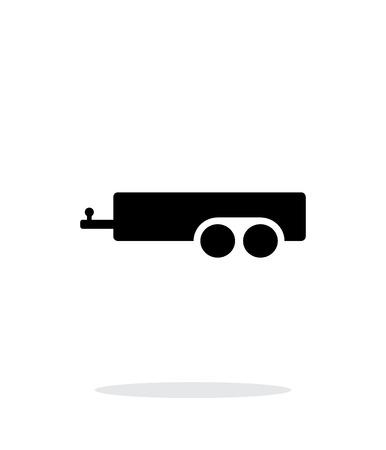 Illustration pour Car trailer simple icon on white background. - image libre de droit