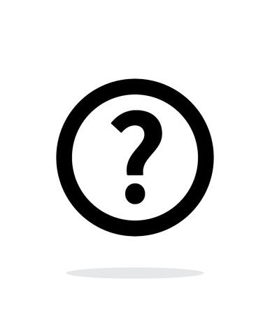 Illustration pour Question icon on white background. - image libre de droit