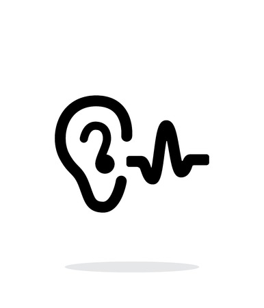 Illustration pour Ear hearing sound icon on white background. - image libre de droit