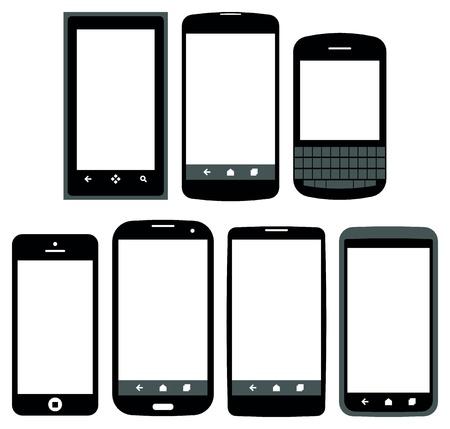 Illustration pour smartphones vector - image libre de droit