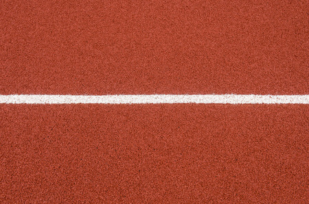 Photo for The running track rubber lanes cover texture with line for background. - Royalty Free Image