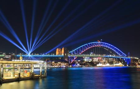 Photo pour Harbour bridge Sydney harbour cityscape Sydney Australia - image libre de droit